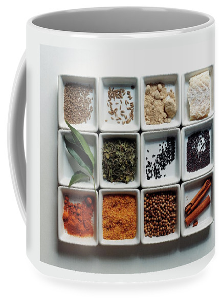 Cooking Coffee Mug featuring the photograph Dishes Of Spices by Romulo Yanes
