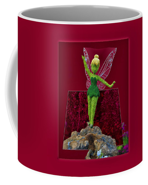 Tinker Bell Coffee Mug featuring the photograph Disney Floral Tinker Bell 01 by Thomas Woolworth