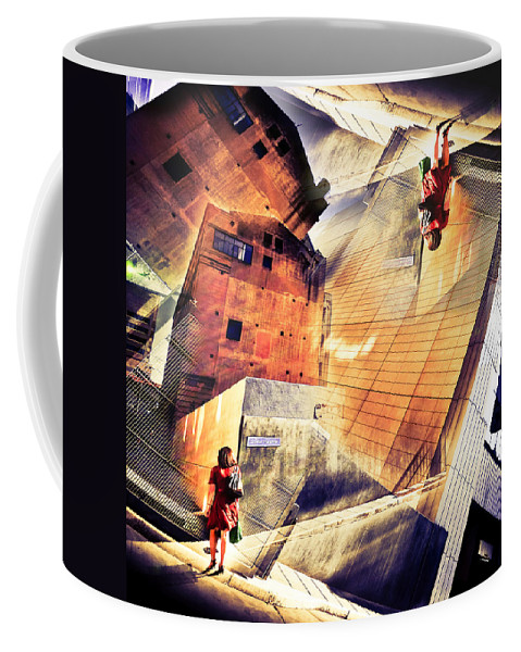 Abstract Coffee Mug featuring the photograph Disoriented by Wayne Sherriff