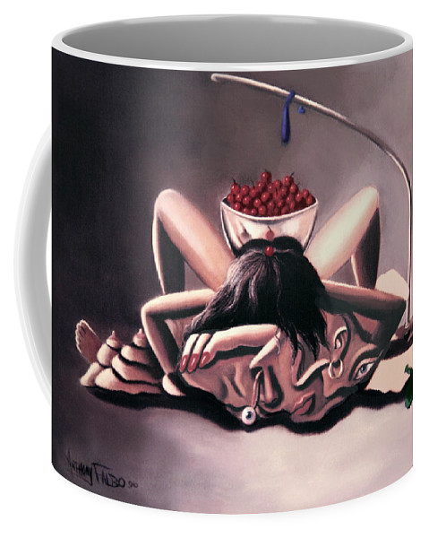 Disposable Woman Coffee Mug featuring the painting Disposable Woman by Anthony Falbo