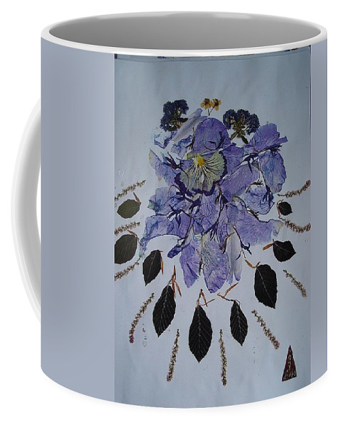 Distorted Dream Of Flowers Coffee Mug featuring the mixed media Distorted Flower-dream by Basant Soni