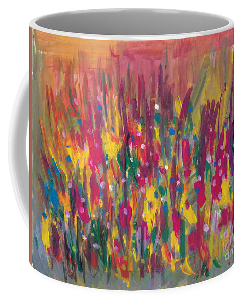 Contemporary Coffee Mug featuring the painting Distortion by Bjorn Sjogren