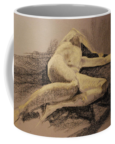 Figure Coffee Mug featuring the painting Distraught by Joy Bradley