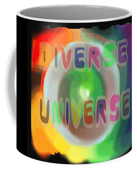 Diverse Coffee Mug featuring the painting Diverse Universe by Pharris Art
