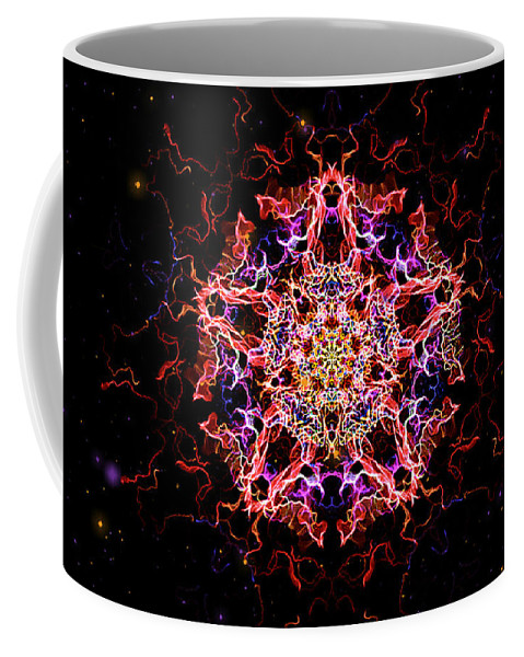 Fractal Coffee Mug featuring the painting Divine Mother by Persephone Artworks