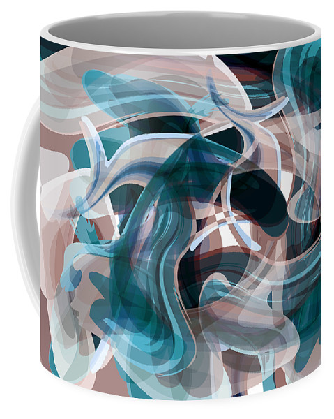 Abstract Coffee Mug featuring the digital art Diving Into Your Ocean 3 by Angelina Tamez