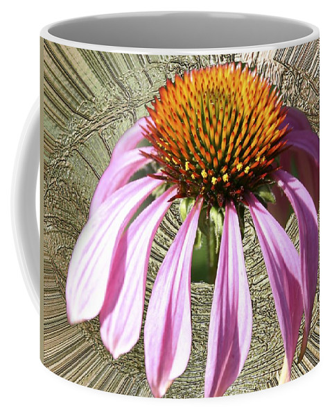 Divinity Gold Coffee Mug featuring the photograph Divinity Gold - Echinacea by Richard Thomas