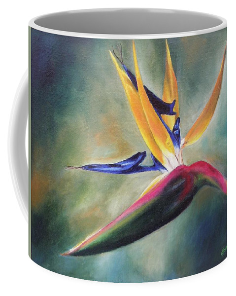 Realism Coffee Mug featuring the painting Dj's Flower by Lori Brackett