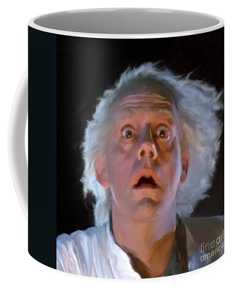 Doc Coffee Mug featuring the painting Doc Brown by Paul Tagliamonte