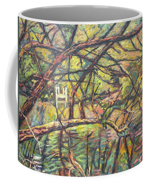 Landscape Coffee Mug featuring the painting Dock At Pandapas by Kendall Kessler