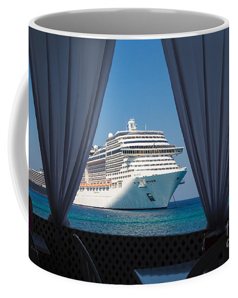 Ship Coffee Mug featuring the photograph Docked In My Dreams by Rene Triay Photography