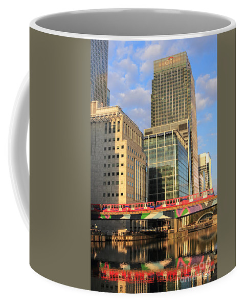 Docklands London Coffee Mug featuring the photograph Docklands London by Julia Gavin