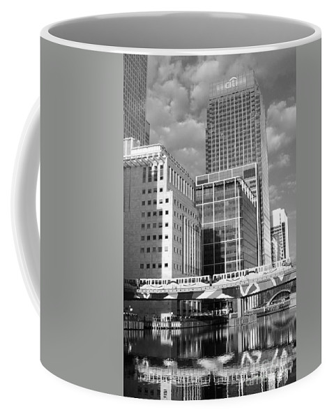 Docklands London Coffee Mug featuring the photograph Docklands London Mono by Julia Gavin
