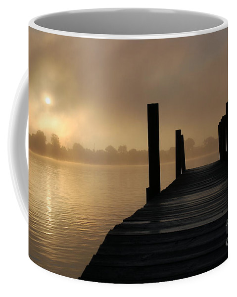 Dock Coffee Mug featuring the photograph Dockside And A Good Morning by Randy J Heath
