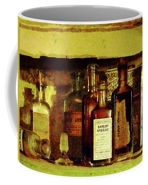 Druggist Coffee Mug featuring the photograph Doctor - Syrup Of Ipecac by Susan Savad