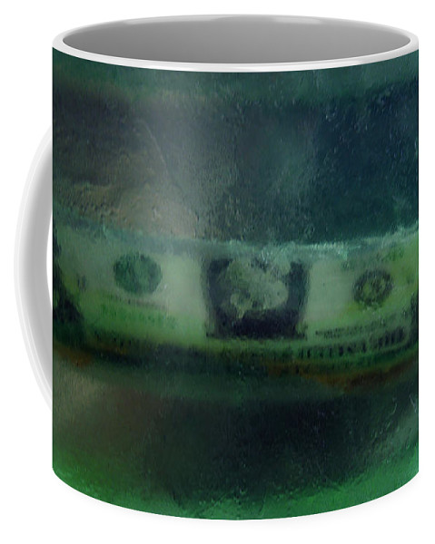 Colette Coffee Mug featuring the photograph Dollar Note Life Destiny Fate Living In The Soap by Colette V Hera Guggenheim