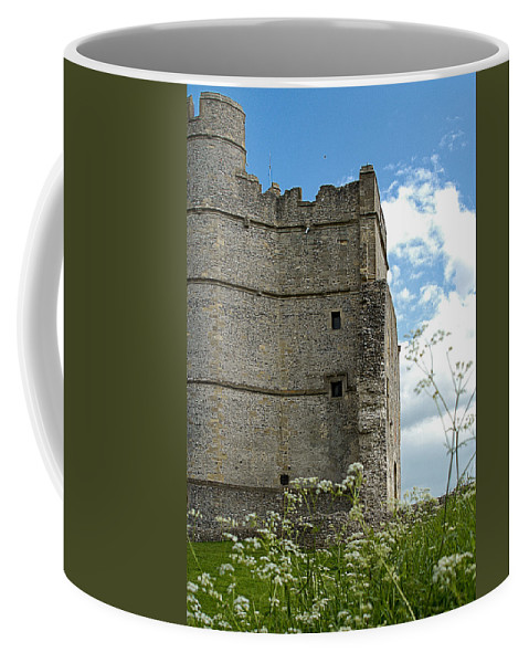 Ancient Coffee Mug featuring the photograph Donnington Castle by Mark Llewellyn