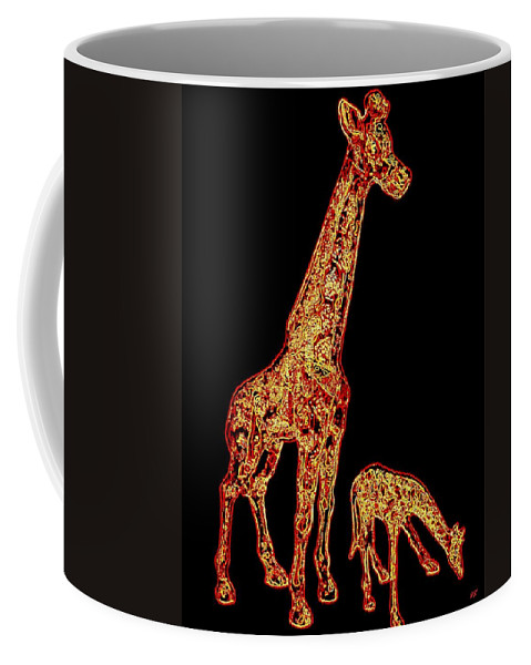 Don't Eat My Initials Coffee Mug featuring the digital art Don't Eat My Initials by Will Borden