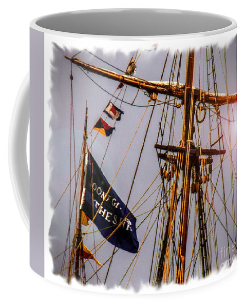 Coffee Mug featuring the digital art Don't Give Up The Ship by Kathryn Strick