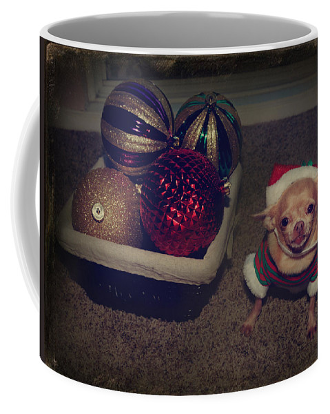 Dog Coffee Mug featuring the photograph Don't Hang Me On Your Tree by Laurie Search