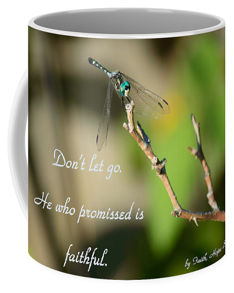 Dragonfly Coffee Mug featuring the photograph Don't Let Go by Leticia Latocki