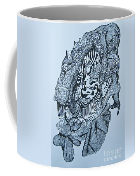 Doodle Coffee Mug featuring the painting Doodle - 04 by James Lavott