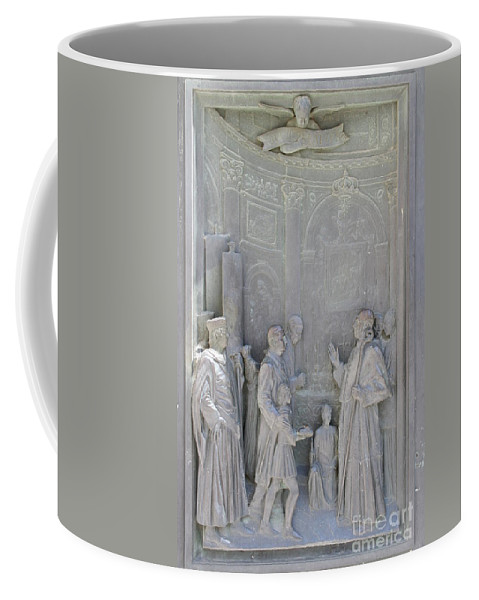 Relief Coffee Mug featuring the photograph Door Detail Cathedral Siena by Christiane Schulze Art And Photography