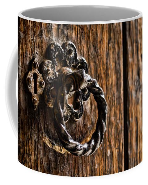 Door Knocker Coffee Mug featuring the photograph Door Knocker by Heather Applegate