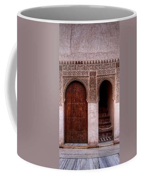 Alhambra Coffee Mug featuring the photograph Door Of The Court Of The Myrtles 2 by Weston Westmoreland