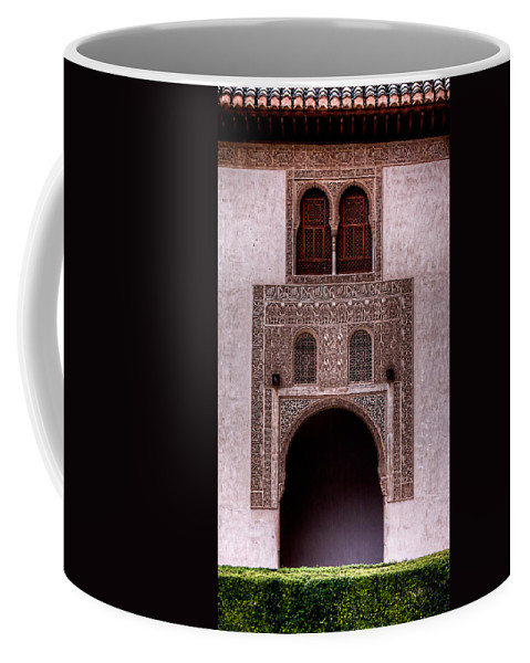 Alhambra Coffee Mug featuring the photograph Door Of The Court Of The Myrtles 3 by Weston Westmoreland