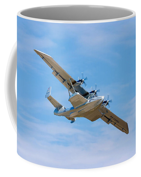 3scape Coffee Mug featuring the photograph Dornier Do-24 by Adam Romanowicz