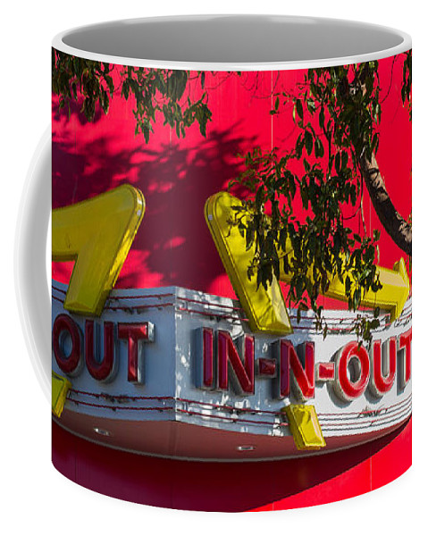 In-n-out Coffee Mug featuring the photograph Double Double With Cheese Animal Style Yum by Scott Campbell