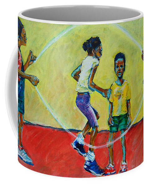 Play Coffee Mug featuring the painting Double Dutch by Charles M Williams