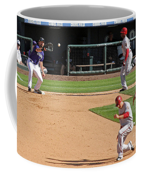 Colorado Coffee Mug featuring the photograph Double Play by Bob Hislop