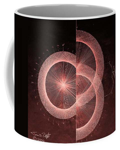 Jason Coffee Mug featuring the drawing Double Slit Test by Jason Padgett