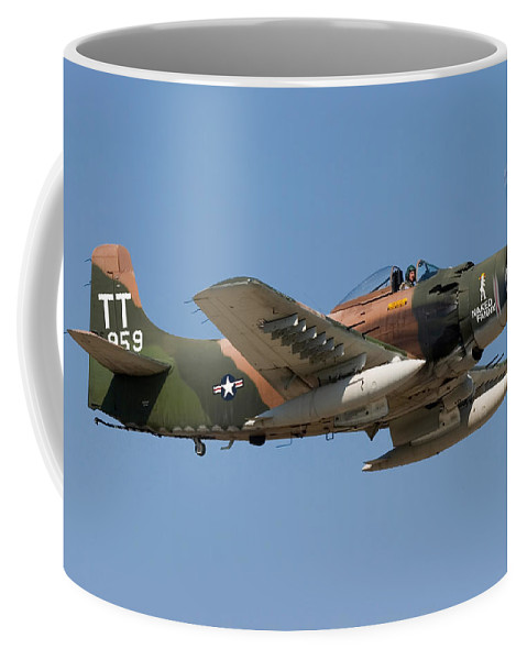3scape Coffee Mug featuring the photograph Douglas Ad-4 Skyraider by Adam Romanowicz