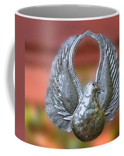 Garden Dove Of Peace Coffee Mug featuring the photograph Garden Dove Of Peace Sculpture by Ginger Wakem