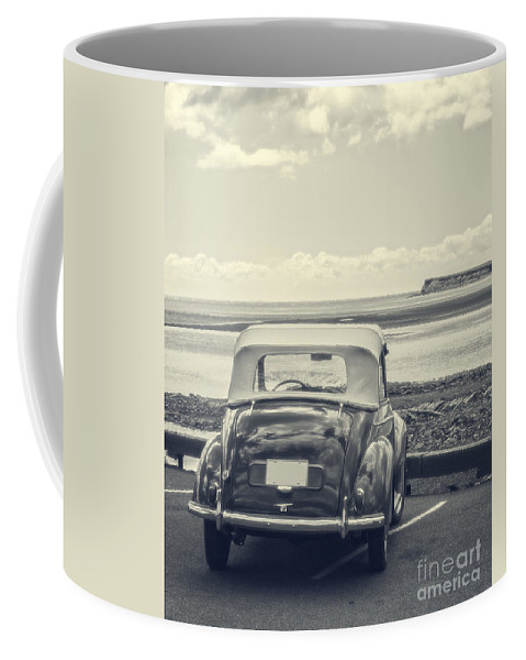 Beach Coffee Mug featuring the photograph Down By The Shore by Edward Fielding