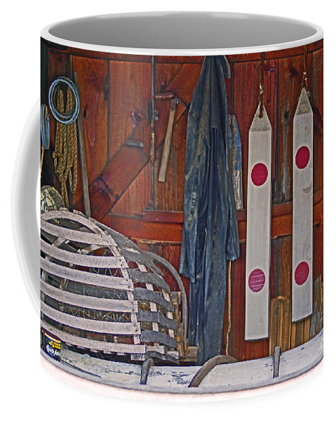 Lobster Coffee Mug featuring the photograph Down East Equipment by Joe Geraci