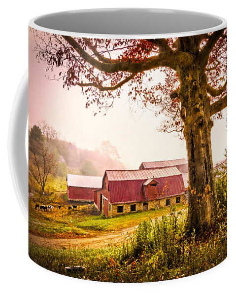Appalachia Coffee Mug featuring the photograph Down On The Farm by Debra and Dave Vanderlaan