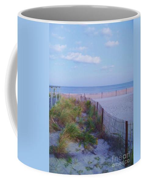 Ocean Coffee Mug featuring the photograph Down The Shore At Belmar Nj by Eric Schiabor