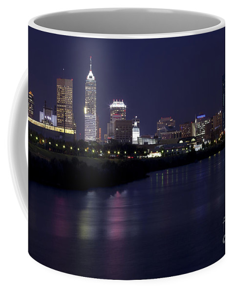 Downtown Coffee Mug featuring the photograph Downtown Indianapolis Indiana by Anthony Totah