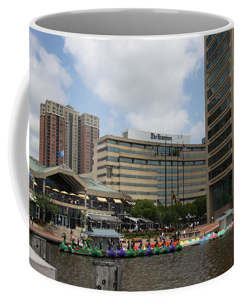 Boats Coffee Mug featuring the photograph Dragonboats - Inner Harbor Baltimore by Christiane Schulze Art And Photography