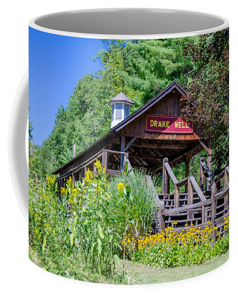 Guy Whiteley Photography Coffee Mug featuring the photograph Drake Well Stop 3d21667 by Guy Whiteley