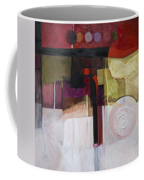 Paper Coffee Mug featuring the painting Drama Too by Marlene Burns