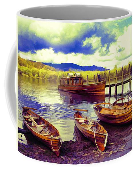 Lakes Coffee Mug featuring the photograph Dramatic Derwent by Gillian Singleton