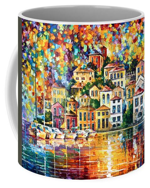 Afremov Coffee Mug featuring the painting Dream Harbor by Leonid Afremov