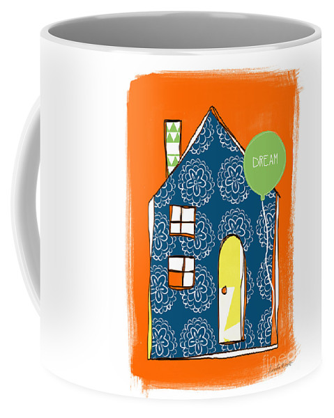 House Coffee Mug featuring the painting Dream House by Linda Woods