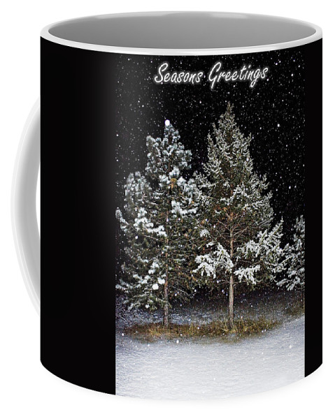 Snow Coffee Mug featuring the photograph Dreaming In The Night by Janie Johnson