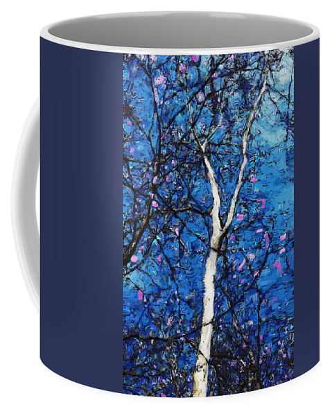 Fine Art Coffee Mug featuring the digital art Dreaming Of Spring by David Lane